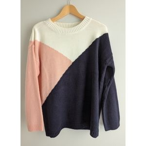 BB Dakota Crew Neck Long Sleeve Multicolor Sweater